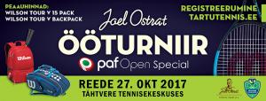 Joel Ostrat ÖÖturniiri Paf Open Special 27.10.2017
