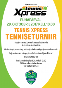 Tennis Xpress turniir 29.10.2017