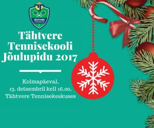 Tähtvere Tennisekooli Jõulupidu 13. detsembril